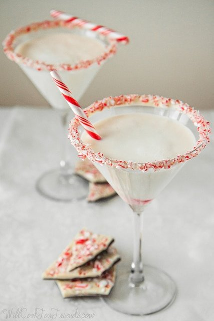 White Chocolate Peppermint Bark Martini