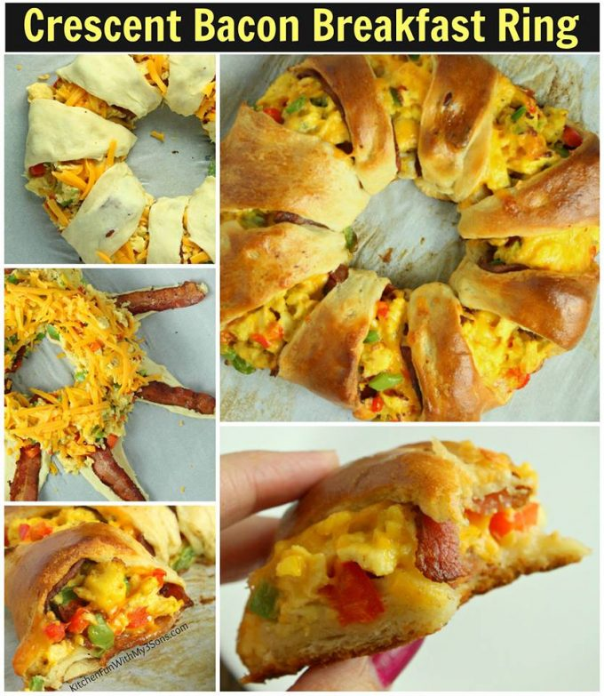 Crescent Bacon and Egg Breakfast Ring