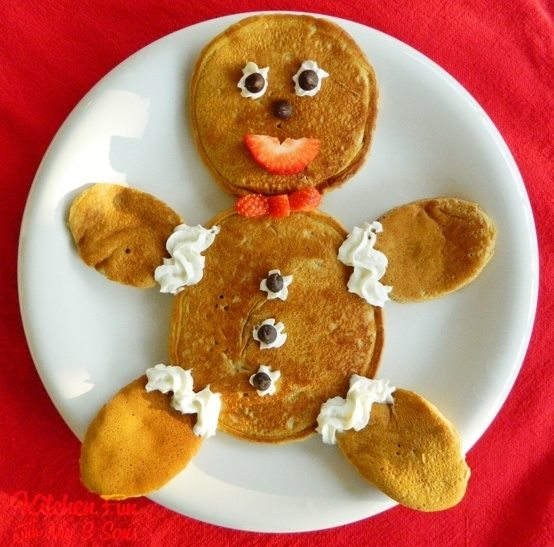 Gingerbread Man Pancakes - Over 30 of the BEST Christmas Breakfast ideas!