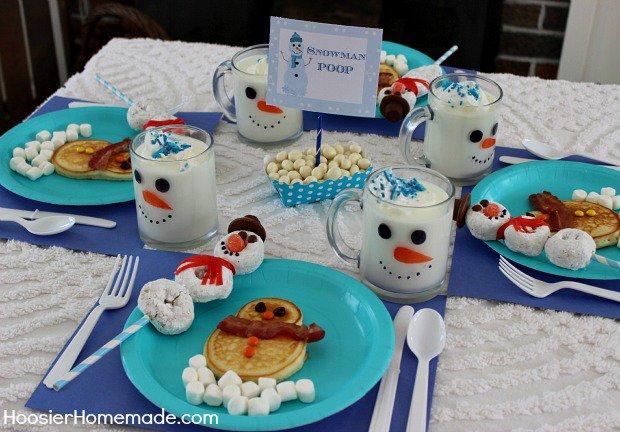 Snowman Breakfast - Over 30 of the BEST Christmas Breakfast ideas!