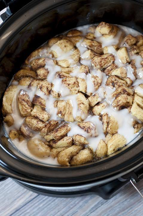 Crock Pot Cinnamon Roll Casserole - Over 30 of the BEST Christmas Breakfast ideas!