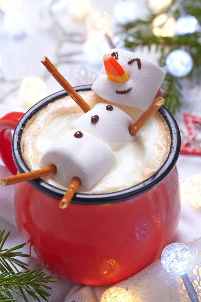 Snowman Hot Cocoa - Christmas Breakfast Recipes