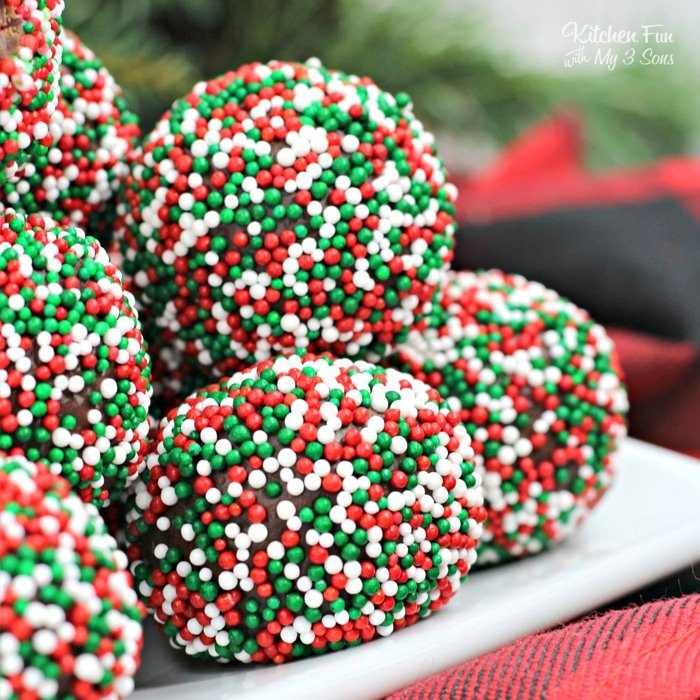 Boozy Christmas Chocolate Truffles Kitchen Fun With My 3 Sons