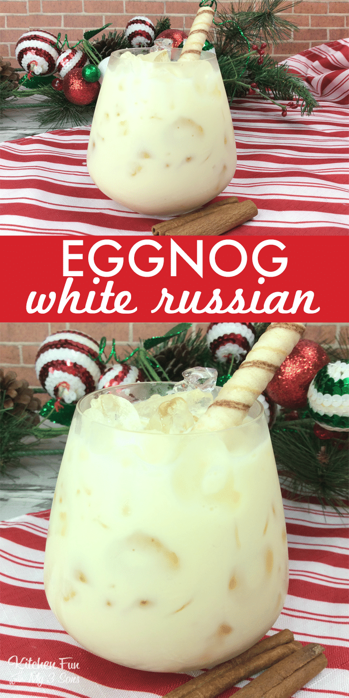 White Russian Eggnog | Holiday cocktail recipe for adults only.