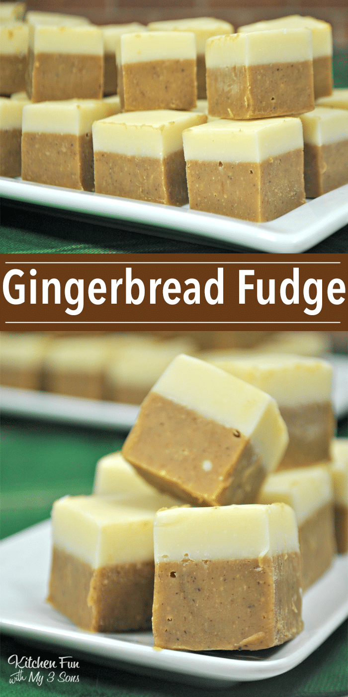 Gingerbread Fudge | Gingerbread Christmas fudge | Delicious Christmas treat desserts.