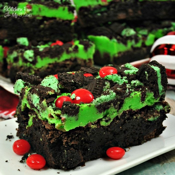 Grinch Brownies   Yummy Christmas recipe for our favorite holiday movie The Grinch