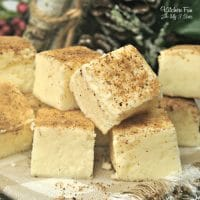 Eggnog Fudge Recipe - Easy and Creamy