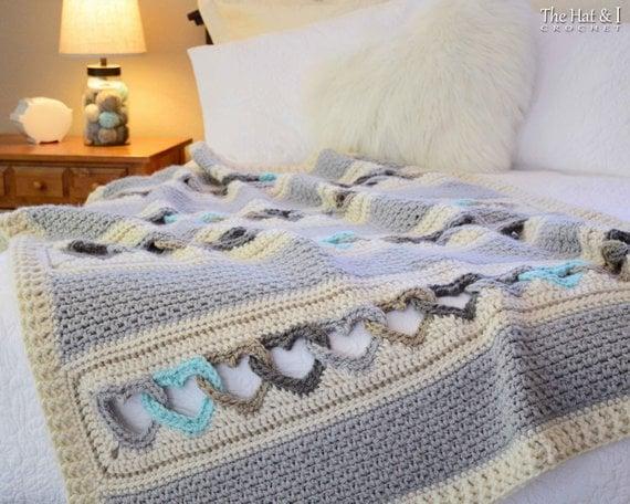 Crochet Heart Blanket / Afghan