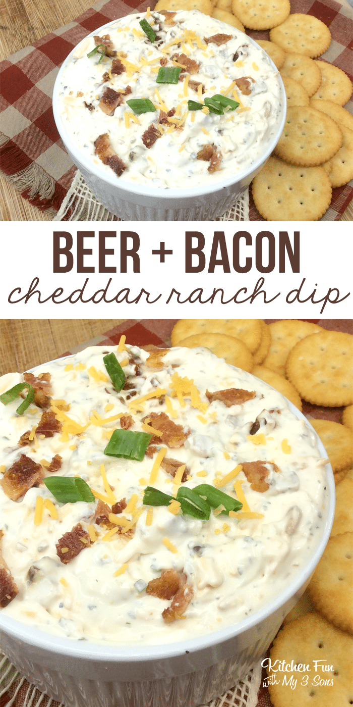 This recipe for Beer Bacon Cheddar Ranch Dip is one of my absolute faves. It's so simple. It's wonderfully rich, creamy and savory. Perfect for the Super Bowl!