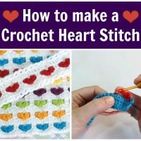 How to make a Crochet Heart Stitch