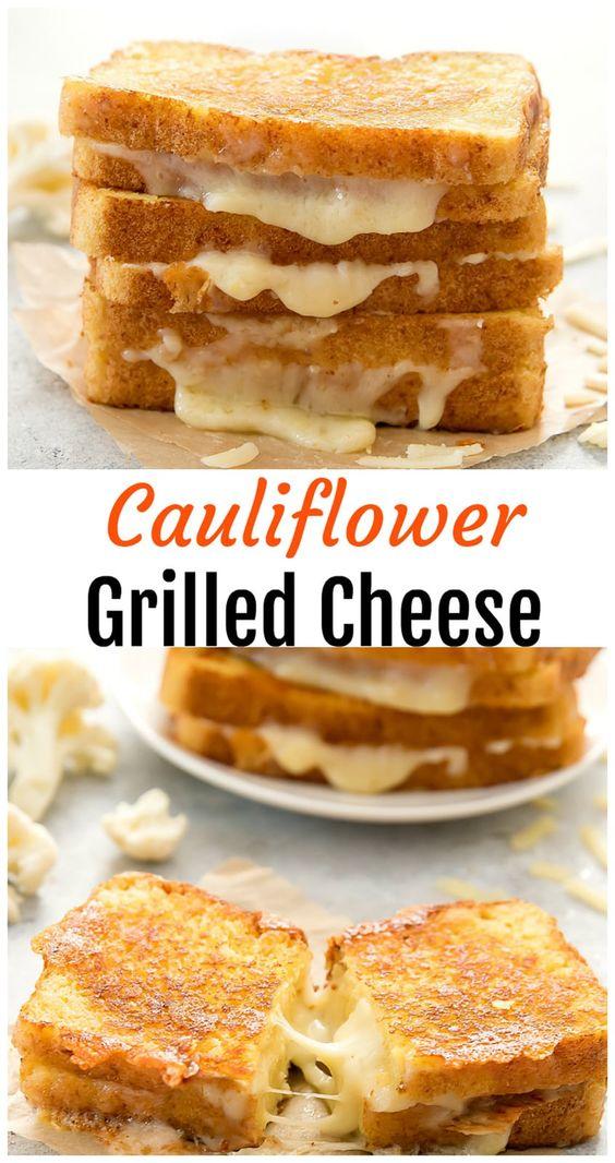 Keto Cauliflower Grilled Cheese