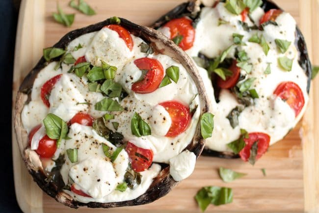 Portabella Mushroom Pizzas