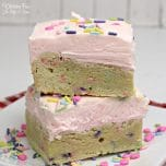 Valentines Sugar Cookie Bars with a delicious layer of icing on top is a great Valentine's treat.