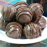Baileys Truffles with delicious dark chocolate, coffee and Baileys Irish Whiskey is a decadent dessert.