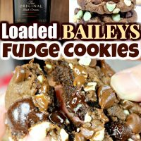 Loaded Baileys Mint Fudge Cookies