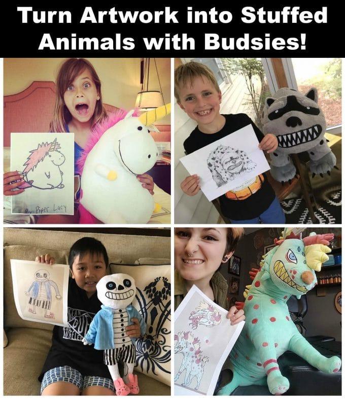 Turn Children's Creative Artwork Into Stuffed Animals With Budsies!