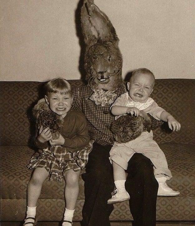 Vintage Creepy Easter Bunnies