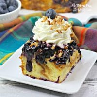 This recipe for Blueberry Bread Pudding is a seriously delicious treat for a special breakfast.
