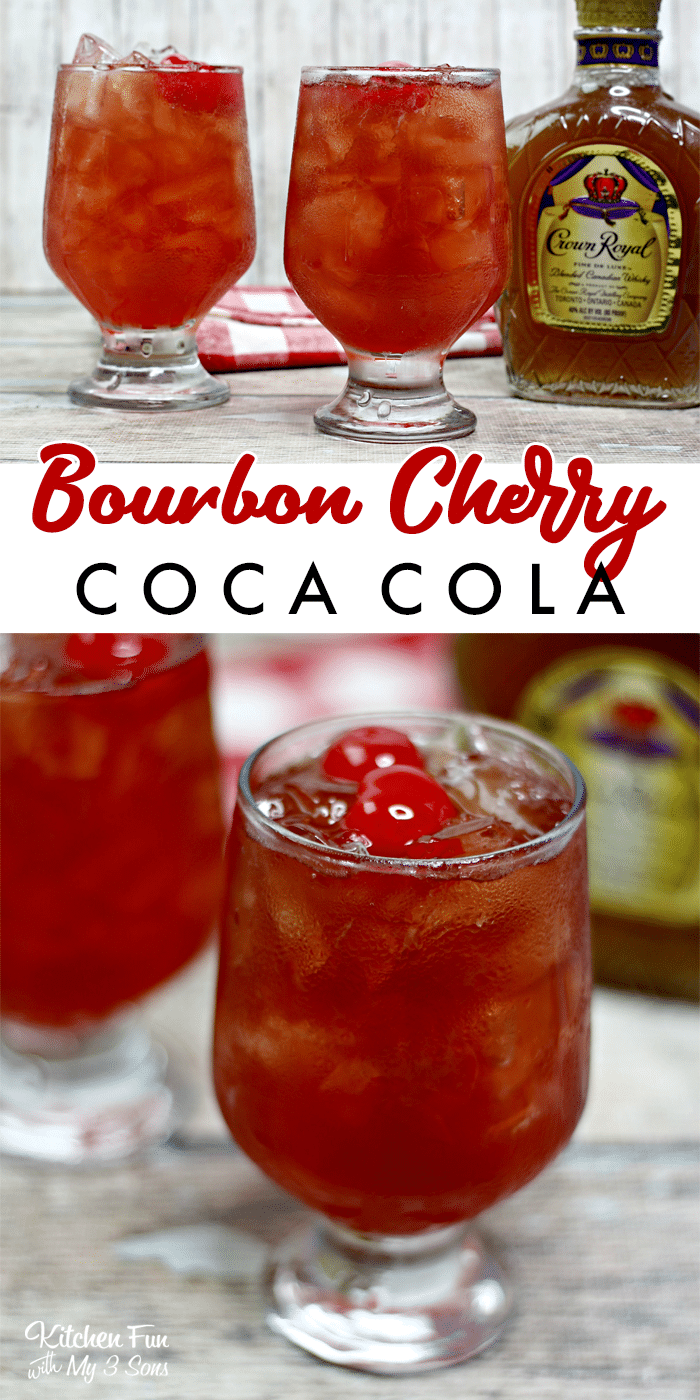 Bourbon Cherry Coke is a quick and delicious cocktail you can make with just four ingredients. Grab a glass and let's go!