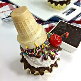 These ice cream cone cupcakes are definitely going to be making a debut at our next family birthday party. Aren't they so adorable? They totally look just like upside down, melting ice cream cones!