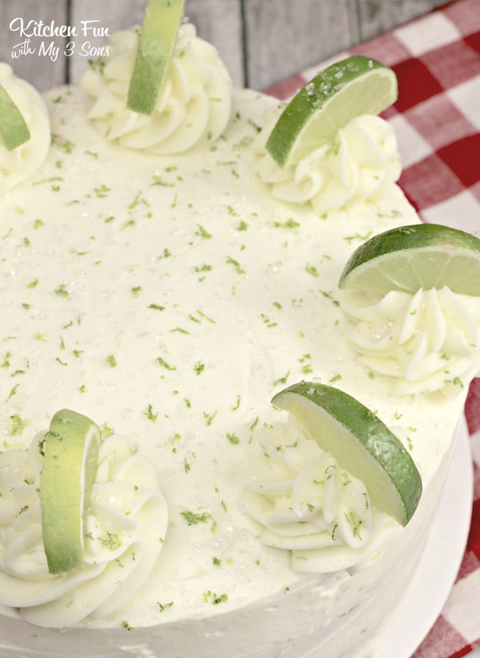 This Margarita Cake is like a full margarita cocktail in cake form. Yes, it's got lime and tequila!