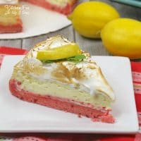 Strawberry Lemon Cheesecake