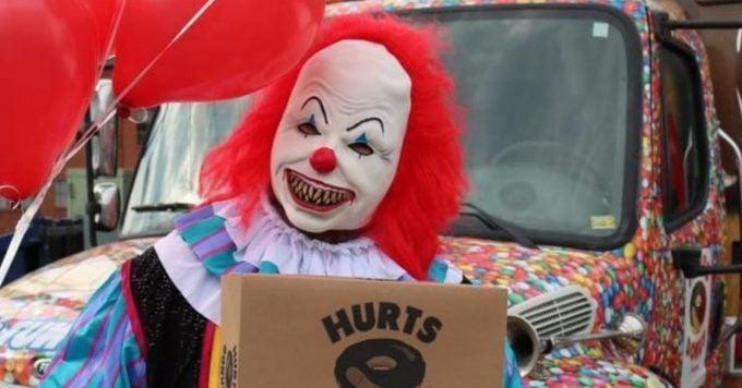 Creepy Clowns Deliver Donuts