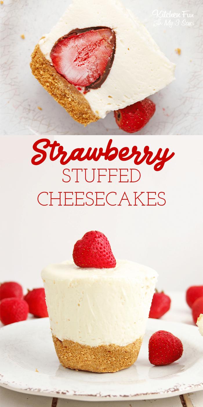 Chocolate Strawberry Stuffed Cheesecake Kitchen Fun With