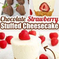 Chocolate Strawberry Stuffed Cheesecake