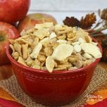 Apple Pie Trail Mix is a fun and incredibly easy treat to make this Fall. Make it with the kids on a rainy October day or as a snack on Thanksgiving.