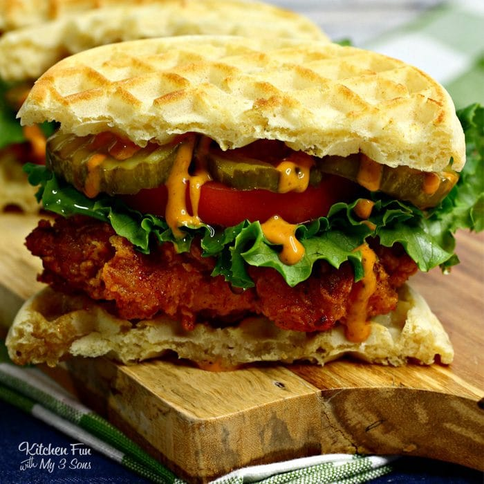 Spicy Nashville Chicken and Waffles recipe. A delicious kick to chicken & waffles!