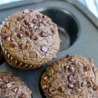 Chocolate Chip Banana Muffins