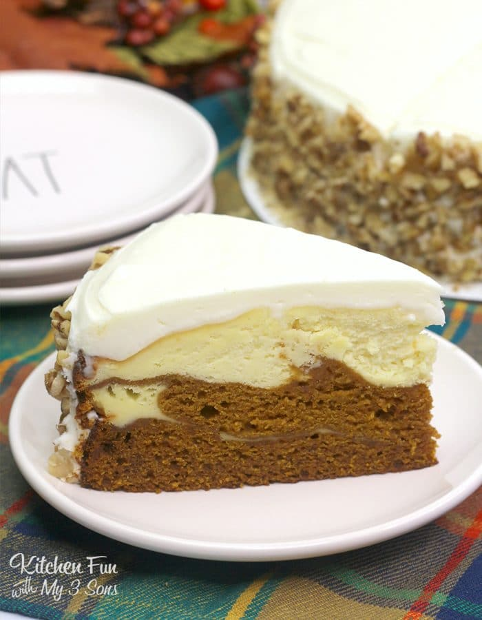 Pumpkin Cake Cheesecake is a double layered dessert with pumpkin cake and pumpkin cheesecake. It is the most delicious fall recipe for all you pumpkin lovers.