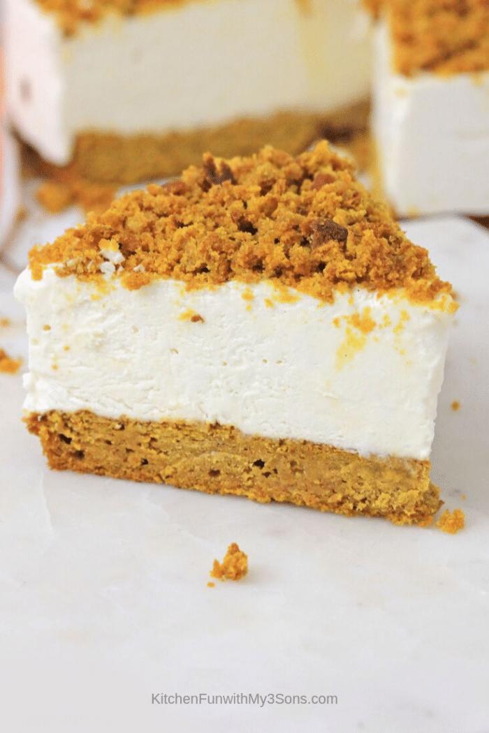 Cheesecake with a Pumpkin Bread Crust
