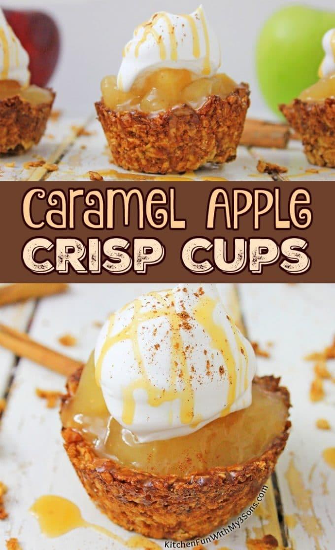 Caramel Apple Crisp Cups