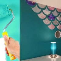 This Stunning DIY Mermaid Wall Cost Less Than $25