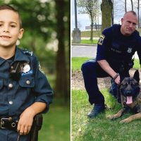 Compassionate 9-Year-Old Boy Raises $90,000 for Police Dogs