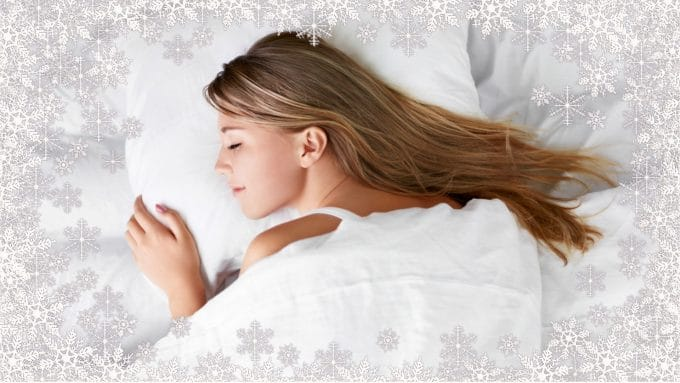 Sleeping in a cold room helps you go to sleep quicker and removes stress.
