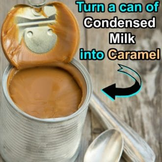 Turn a Can of Sweetened Condensed Milk into Caramel using the Slow Cooker - Just 1 Ingredient!