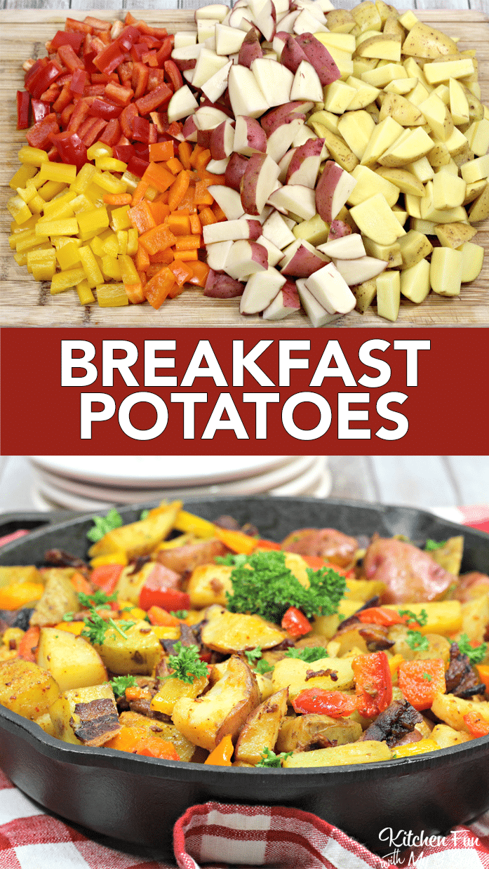 Breakfast potatoes have pretty much all the ingredients for a great morning. Bacon, eggs, and even a little maple syrup make this potato dish a winner.