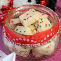 Funfetti Shortbread Bites are the perfect holiday treat! Just five ingredients, delicious and totally festive.