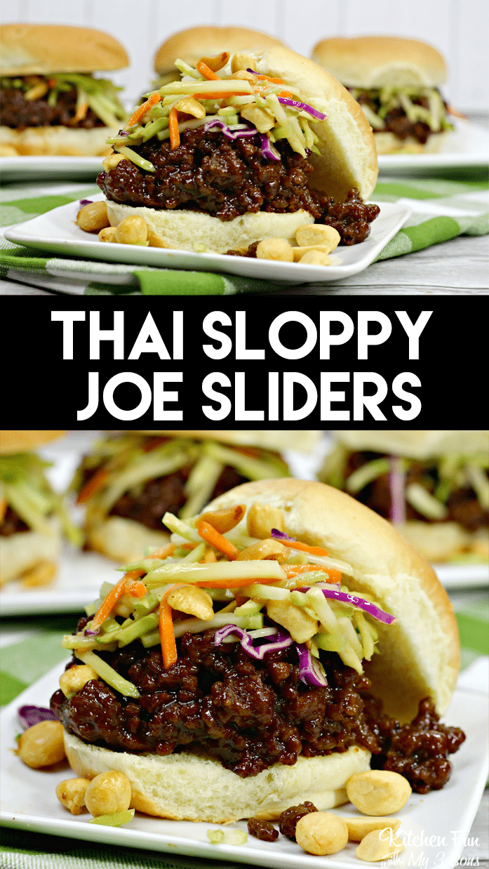 Thai Sloppy Joe Sliders are a spicy recipe for dinner or a get-together. With ingredients like siracha, onions and garlic, this has a delicious kick.