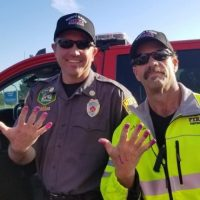 Firefighters Calm Little Girl After Car Crash By Letting Her Paint Their Nails