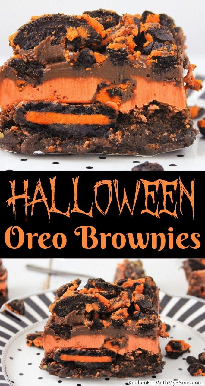 Oreo Halloween Brownies