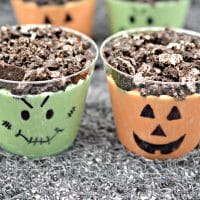 Halloween Pudding Cups