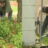 Kids Volunteer for Yard Work for P.E. Credit