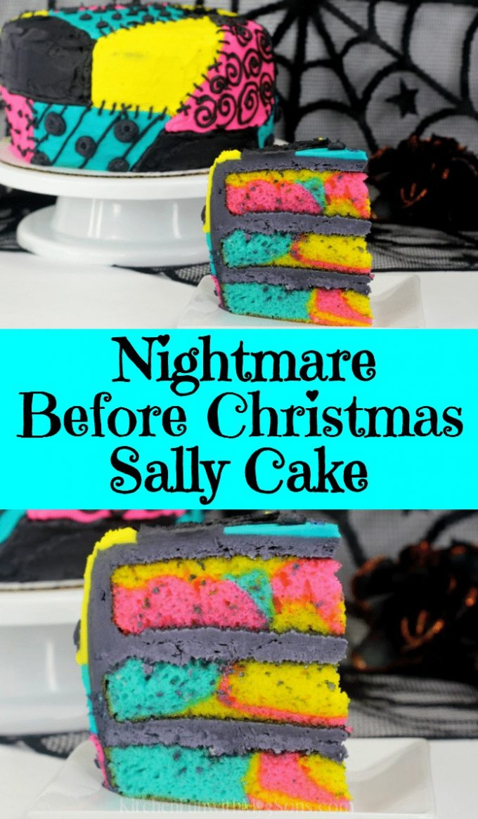 Nightmare Before Christmas Sally Cake