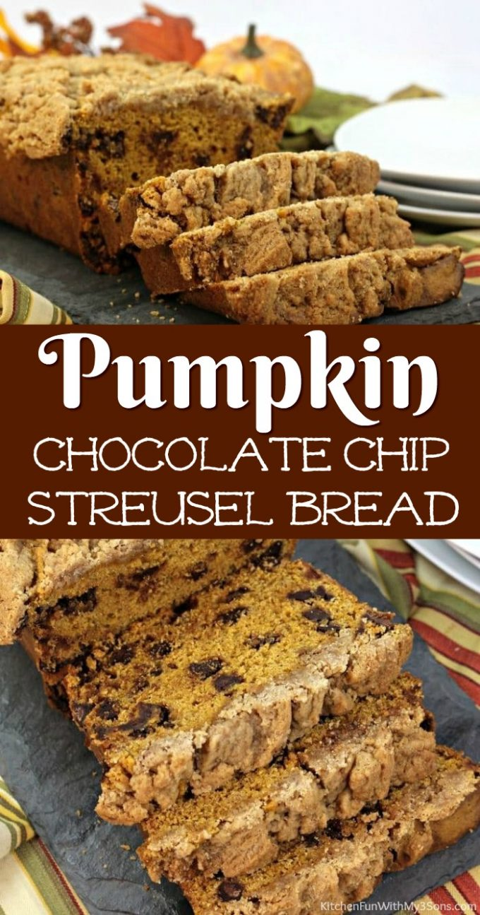 Pumpkin Chocolate Chip Streusel Bread