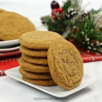 Gingerbread Molasses Cookies {Soft and Chewy}