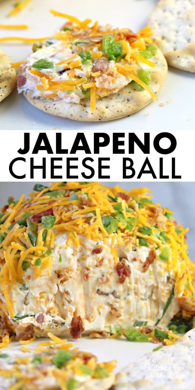 A Jalapeno Cheese Ball is a great appetizer to serve to your guests this Thanksgiving and all throughout the year. It's got the perfect about of spice and the great flavor of smoked bacon.